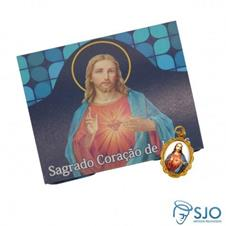100 Cart�es com Medalha do Sagrado Cora��o de Jesus