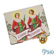 Cart�o com Medalha de S�o Cosme e Dami�o