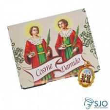 50 Cartões com Medalha de São Cosme e Damião
