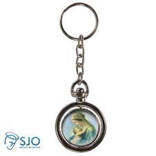 Chaveiro Redondo Girat�rio - Nossa Senhora do Abra�o