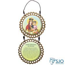 Adorno de porta redondo duas peças - Nossa Senhora da Saude