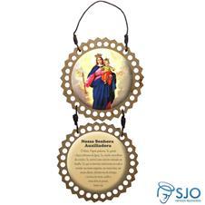 Adorno de porta redondo duas peças - Nossa Senhora Auxiliadora