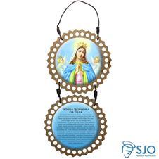 Adorno de porta redondo duas peças - Nossa Senhora da Guia