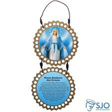 Adorno de Porta Redondo - Nossa Senhora das Graças