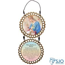 Adorno de porta redondo duas peças - Nossa Senhora do Rosário