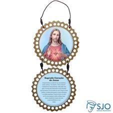Adorno de Porta Redondo - Sagrado Coração de Jesus