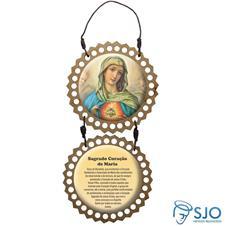 Adorno de Porta Redondo - Sagrado Coração de Maria