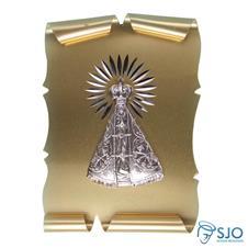 Pergaminho 10 x 7 Nossa Senhora Aparecida Dourado