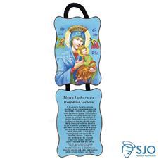 Adorno de porta retangular - Nossa Senhora do Perpétuo Socorro
