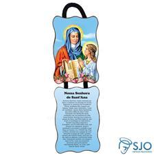 Adorno de porta retangular - Nossa Senhora de Santana