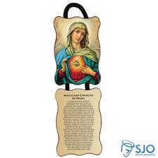 Adorno de Porta Retangular - Sagrado Coração de Maria