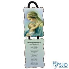 Adorno de porta retangular -  Nossa Senhora do Abraço