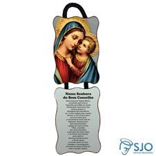 Adorno de porta retangular - Nossa Senhora do Bom Conselho