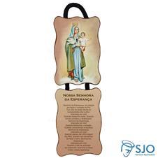 Adorno de Porta Retangular - Nossa Senhora da Esperança
