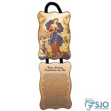 Adorno de porta retangular - Nossa Senhora Desatadora de Nós