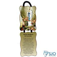 Adorno de Porta Retangular - Nossa Senhora de Lourdes
