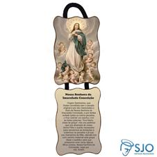 Adorno de porta retangular - Nossa Senhora da Imaculada Conceição - Mod 01