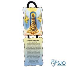 Adorno de porta retangular - Nossa Senhora do Loreto