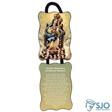 Adorno de porta retangular - Nossa Senhora de Monte Serrat