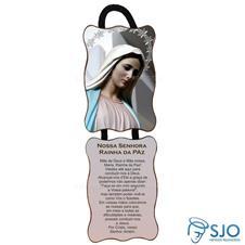 Adorno de porta retangular - Nossa Senhora Rainha da Paz - Mod 02
