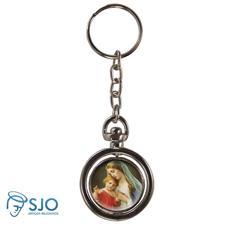 Chaveiro Redondo Girat�rio - Nossa Senhora do Amparo