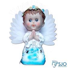 Anjo com Luz e Oração - 25 cm