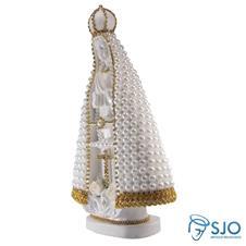 Nossa Senhora Aparecida em P�rola Branca - 30 cm