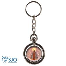 Chaveiro Redondo Girat�rio - Nossa Senhora Aparecida - Modelo 2