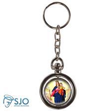 Chaveiro Redondo Girat�rio - Nossa Senhora Auxiliadora