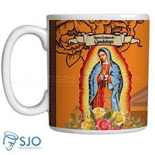 Caneca Nossa Senhora de Guadalupe com Oração