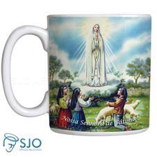 Caneca Nossa Senhora de Fátima com Oração - Mod. 2
