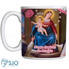 Caneca Nossa Senhora do Rosário com Oração
