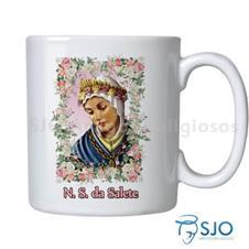 Caneca Nossa Senhora da Salete com Ora��o