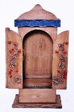 Capela de Madeira com gaveta, porta com dobradi�a - 39 cm