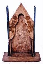 Capela de Madeira com Torre - 44 cm