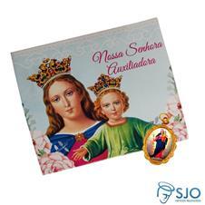 Cartão com Medalha de Nossa Senhora Auxiliadora