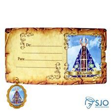 Cartão com Medalha - Nossa Senhora Aparecida