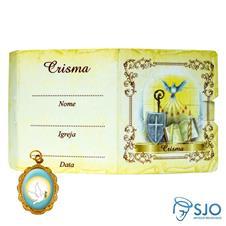 Cartão com Medalha - Crisma