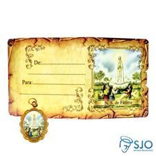 Cartão com Medalha - Nossa Senhora de Fátima