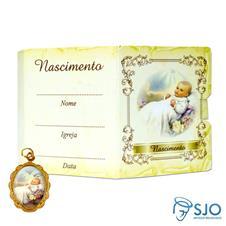 Cartão com Medalha - Nascimento