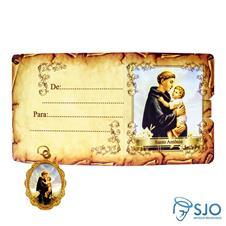 Cartão com Medalha - Santo Antônio
