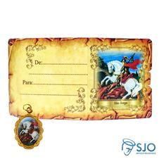 Cartão com Medalha - São Jorge