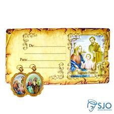 Cartão com Medalha - Sagrada Família