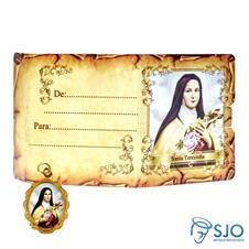 Cartão com Medalha - Santa Terezinha