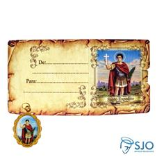 Cartão com Medalha - Santo Expedito