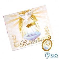 100 Cartões com Medalha de Batismo