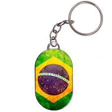 Chaveiro Chapinha - Bandeira Brasil - Modelo 1