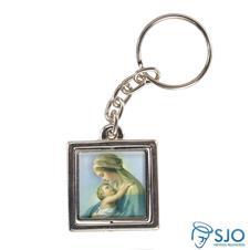Chaveiro Quadrado Giratório de Nossa Senhora do Abraço