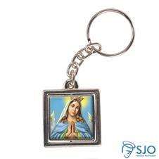 Chaveiro Quadrado Girat�rio de Nossa Senhora da Guia