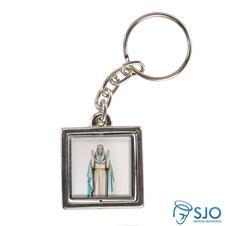 Chaveiro Quadrado Girat�rio de Nossa Senhora do Equil�brio